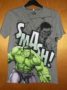 M-amp-s-Avengers-034-Hulk-034-100-Coton-S-T-shirt-a-manches-13-14yrs-164-cm-gris-chine-BNWT
