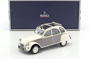 Collectionneurs Norev 1:18 Citroen 2cv Dolly 1985 blanc et gris gris et blanc 181494