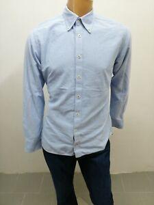 Camicia-TOMMY-HILFIGER-uomo-taglia-size-M-man-chemise-cotone-P-5512