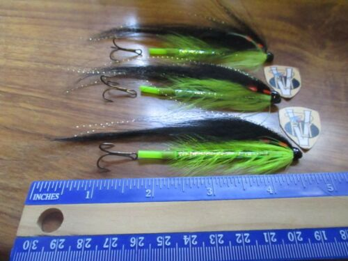 3 V Fly Ultimate Aaroy Green Toshlander Copper Salmon Tube Flies /& Hooks