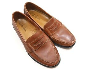 6c51ba687f5 Cole Haan Penny Loafers Mens Shoes Brown Leather 10.5 M D Made in ...