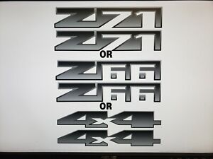 Z66 or Z71 or 4x4 Decal Sticker Fits CHEVY AVALANCHE or OTHER (Single or Pair)