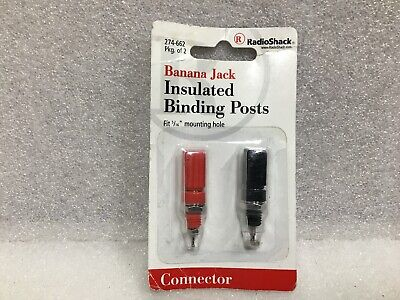 RadioShack Banana Jack Dual Binding Post Connector #274-718 New!!