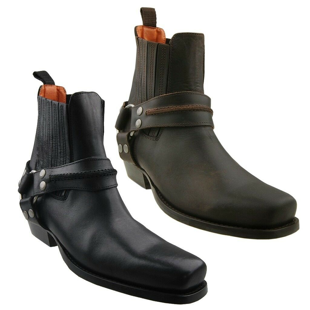 Casual salvaje Nuevo Dockers Biker-Boots motocicleta botas CABALLERO zapatos botas zapatos botín