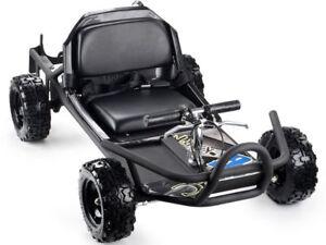 MotoTec-SandMan-Go-Kart-49cc-Black-For-Kids-30-MPH-200LB-Max-20-Miles-Per-Tank