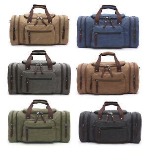 Men-039-s-Canvas-Travel-Shoulder-Tote-Bag-Duffle-Luggage-Sport-Gym-Handbag-Luggage