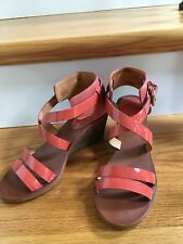36d1fd471036 COACH Shoes Prue- Patent Leather Vachetta Ankle Strap Wedge Heel Sandal 7M