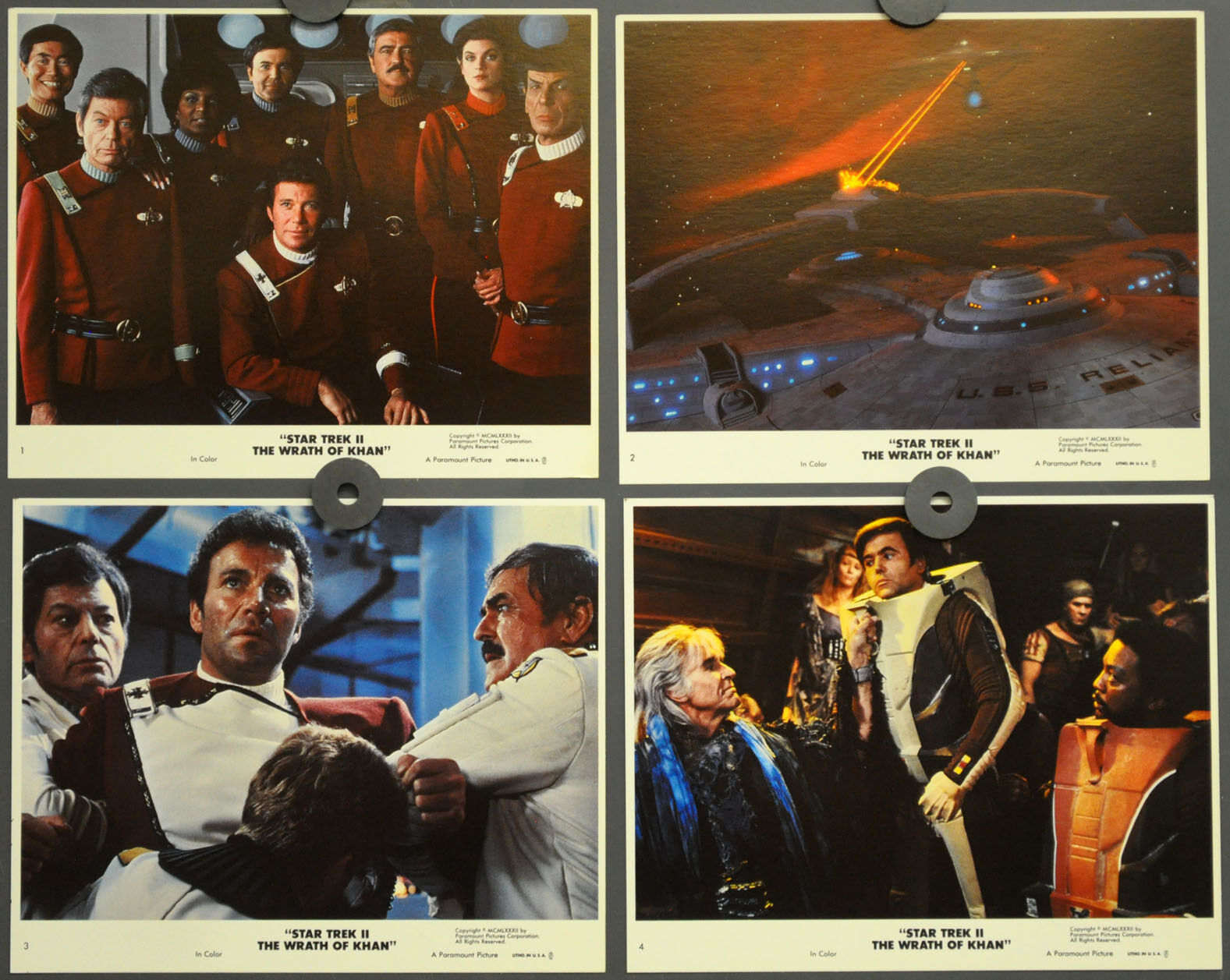 Star Trek II: Wrath Of Khan 1982 Orig 8x10 Mint Lobby Karte Set William Shatner