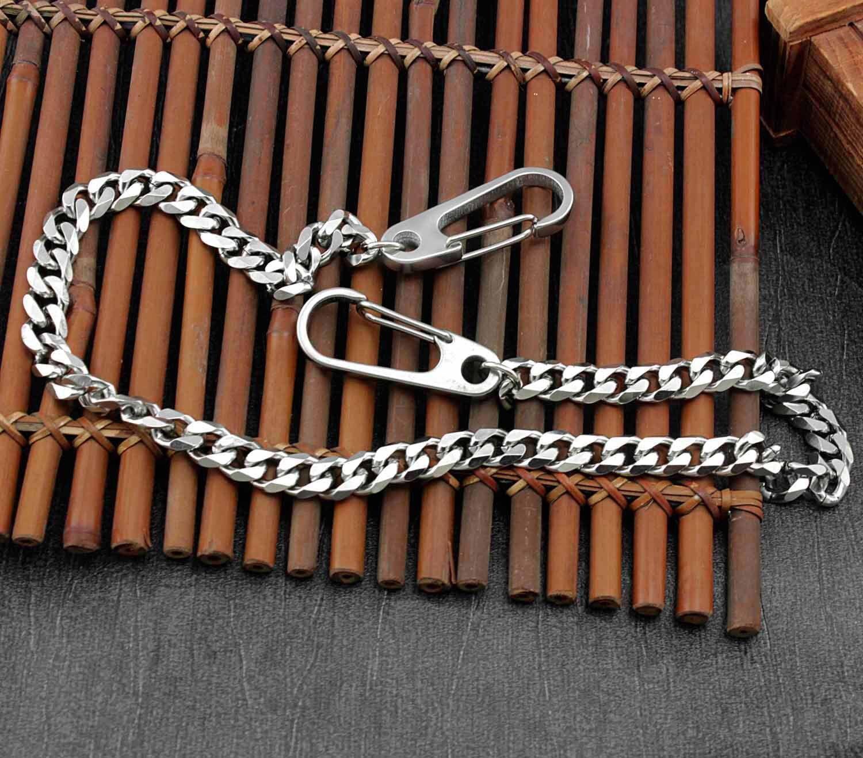 """14/"""" BLK CS1114BLK Basic Strong Leash Heavy Biker Trucker Key Jean Wallet Chain"""