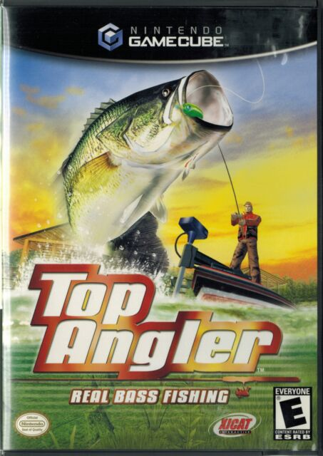 Top Angler: Real Bass Fishing (Nintendo GameCube, 2003) with Case & Manual