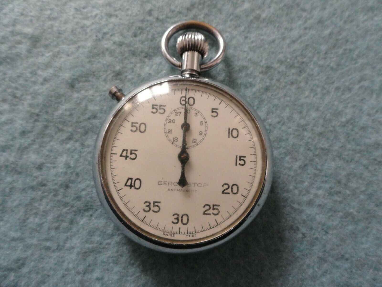 Swiss Made Berco-Stop Vintage Mechanical Wind Up Stopwatch