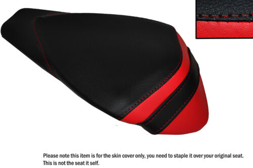 BLACK /& RED LEATHER CUSTOM FITS APRILIA RSV4 R 1000 09-15 REAR SEAT COVER