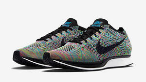 san francisco a76e2 d9181 Image is loading Nike-Flyknit-Racer-Multi-Color-2-0-Green-