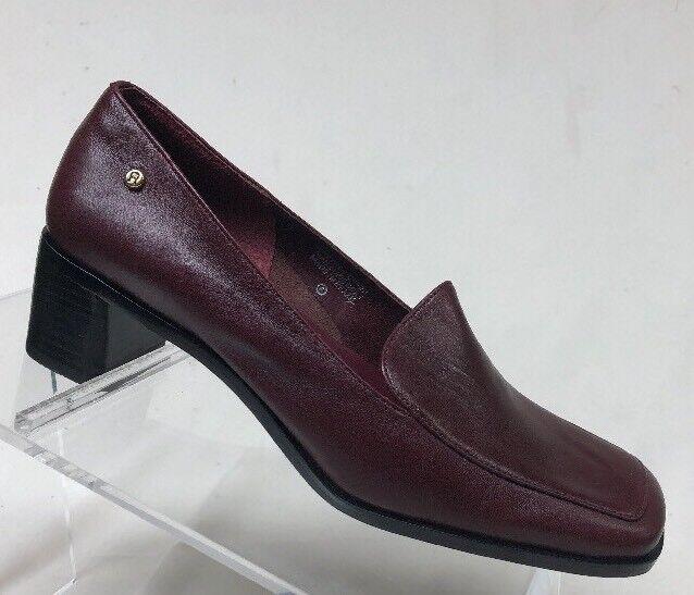 Etienne Aigner damen Burgundy Leather Pumps 6M Sr1
