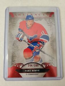 SAKU KOIVU 2020-21 UPPER DECK ARTIFACTS RUBY PARALLEL 294/399 MONTREAL CANADIENS
