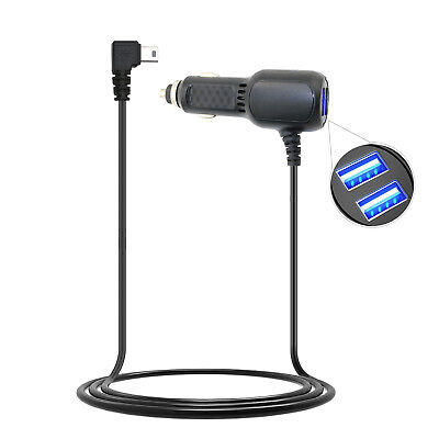 Long Cable Car Vehicle Charger for Garmin NUVI 2455 2475 2495 2555 2595 LM LMT