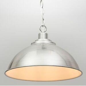 Modern Dome Shape Pendant Ceiling Light - Brushed Chrome eBay