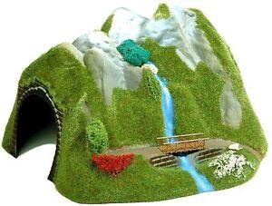 Busch 3007 Tunnel Avec Cascade H0 # Neuf Emballage D'origine #