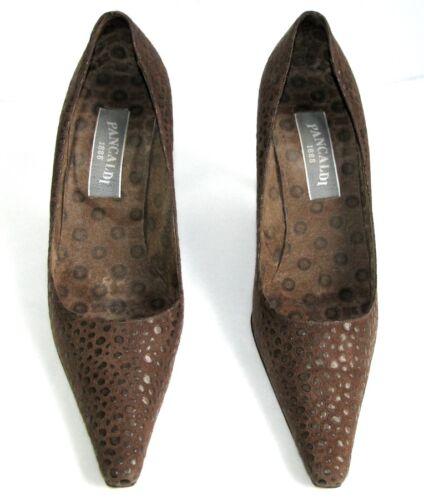 Piel 9 Cm Buen Itl Pancaldi Tacones 38 Marrón Zapatos Estado Todo 1888 Muy CwqCUnIYxt