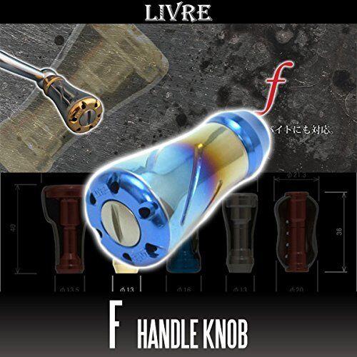 LIVRE f (forte)  Titanium Handle Knob 1 piece FIRE   blueE  factory outlet