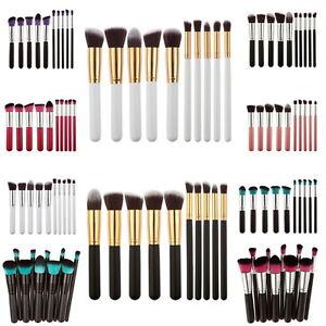 Kit-7-a-10-pinceaux-maquillage-kabuki-brosse-paupiere-fond-de-teint-blush