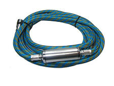 """RDG 3 METER AIRBRUSH BRAIDED HOSE WITH WATER TRAP 1/8"""" - 1/8"""" BSP COMPRESSOR"""