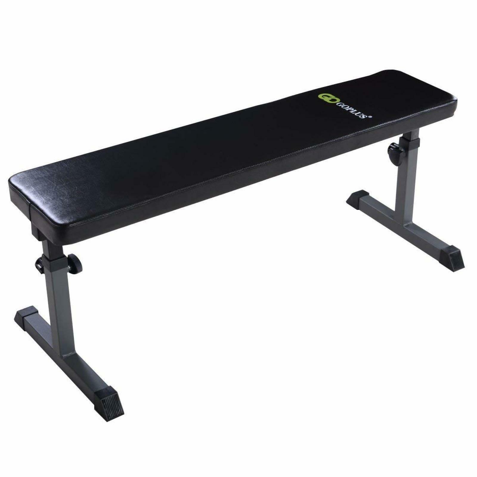 Flat Weight Bench Adjustable Gym Bench Home 440lb Padded Workout Muscles Fitness