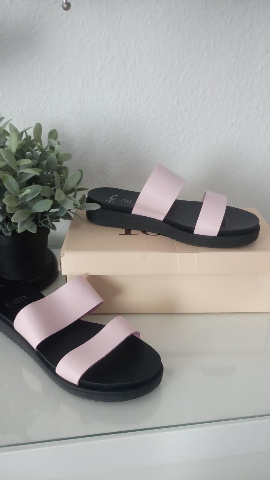 Sandale 39 Leder ASOS FAITH Jelly Slider Echtleder blogger boho bohemian