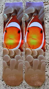 NEW WILD HABITIAT UNISEX CLOWN FISH COLLECTIBLE SUBLIMATION SOCKS JIMMY BUFFETT