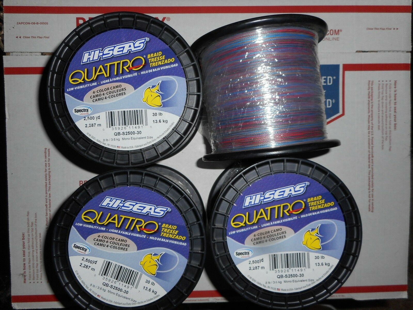 HI-SEAS QUATTRO  Braid Fishing Line Camo 2500 Yards, 30 Pounds  online shop