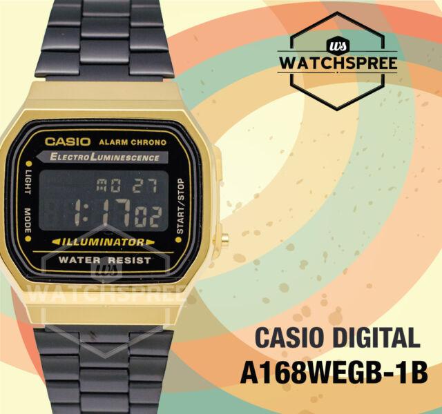 Casio Standard Digital Vintage Series Watch A168WEGB-1B