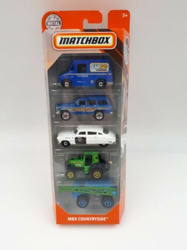 Husdon hornet Matchbox MBX Countryside 5 pack 2019 1:64 Delivery truck Jeep