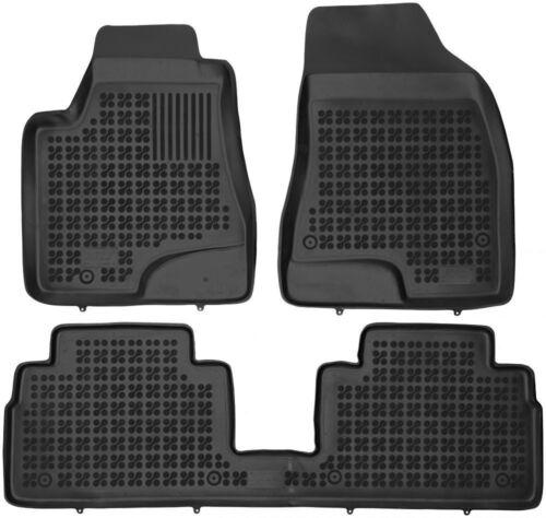 Bj 2003-2008 3-teilige schwarze Gummifußmatte für LEXUS RX II XU30