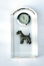 Fox Terrier Design Glass Clock Bedside or Desk Top Hunting Gift Boxed