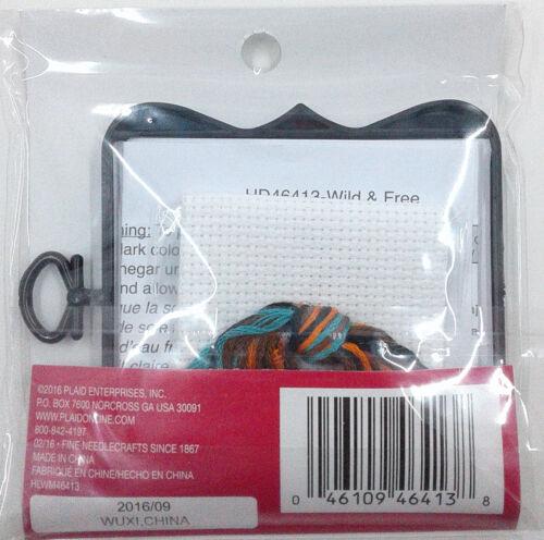 """Mini Cross Stitch Kit Wild /& Free Arrows 3/"""" x 3/"""" with Frame Included Bucilla NIP"""