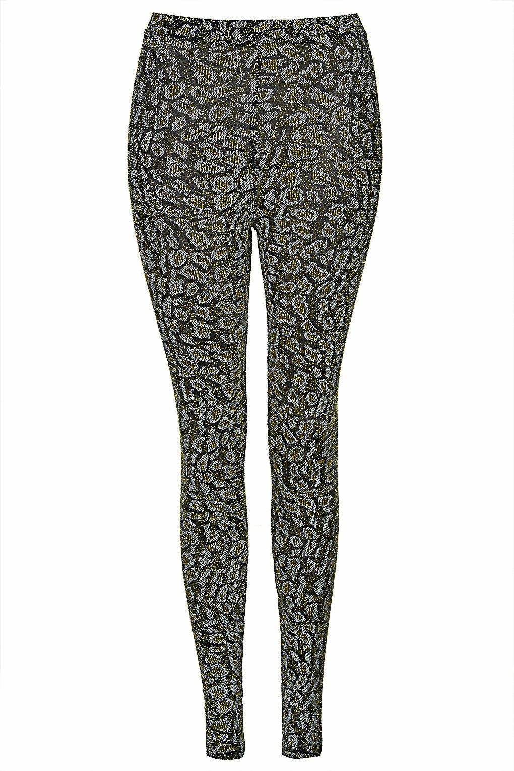 Topshop Leggings with all-over glitter print SIZE UK6 EUR34 US2