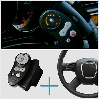 Car Steering Wheel Handsfree Wireless Bluetooth Speaker Phone Kit Mobile Phone