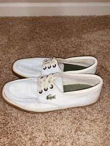 Lacoste Boat Shoes Shakespeare White