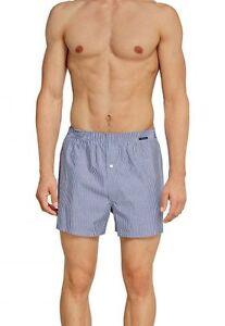 SCHIESSER-POUR-HOMME-BOXER-Web-SHORTS-pantalon-court-Gr-4-5-6-7-8-bleu-clair