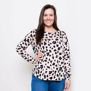 836e37a1d9 Details about NEW LADIES LEOPARD PRINT LIGHTWEIGHT KNIT, SWEATER, PINK, TAN  - Size 8-14/16