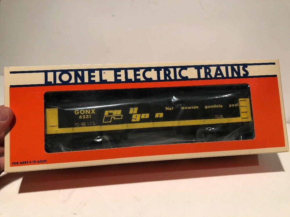 Scarce Lionel Trains 6-6231 Railgon Standard O Gondola Car NIB