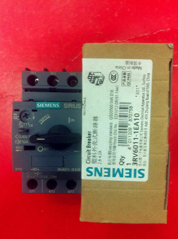 1pc    Siemens  3RV6011-1EA10  2.8-4A   circuit  breaker  free shipping