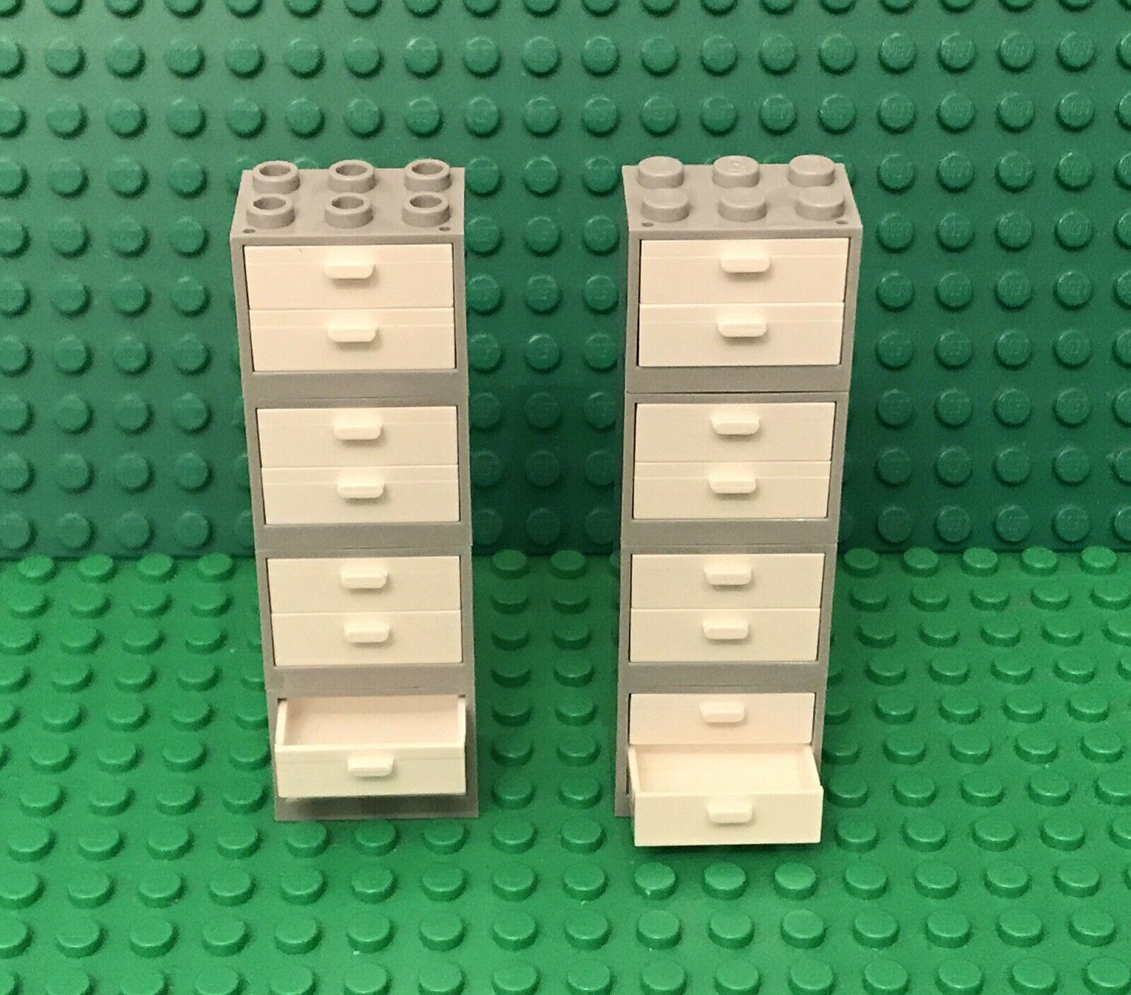 LEGO White 2x3x2 Container Cabinet with Dark Gray Door