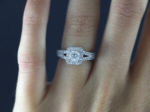 1f79033033ba0 Details about $8,000 Neil Lane 14K White Gold Princess Cut Round Diamond  Engagement Ring