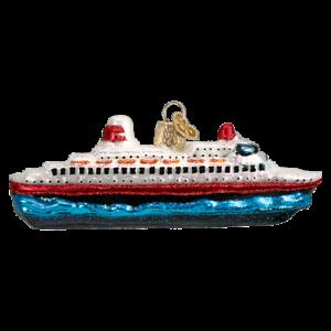 Old-World-Christmas-CRUISE-SHIP-46030-N-Glass-Ornament-w-OWC-Box