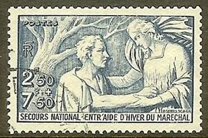 Francia-Francobollo-Stamp-N-498-034-Soccorso-Nazionale-2f50-7f50-034-Oblitere