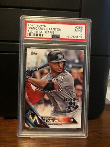 Details About 2016 Topps All Star Game Giancarlo Stanton Baseball Card 269 Psa 9 Mint