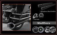 4.5 Megaphone Slid-on Mufflers Black S04 Jet End Caps For Harley Flhtc 1995-13