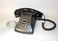 Conair Metropolis Vintage Replica Phone-Black and Pewter-Model SW2504GPH