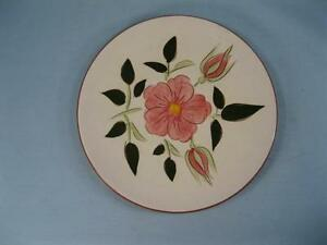 Wild-Rose-Bread-amp-Butter-Plate-Stangl-Pottery-Pink-Flowers-Leaves-Vintage-O